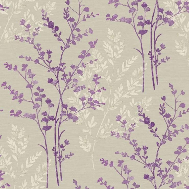 Purple Cream Beige   250403   Fern   Motif   Arthouse Wallpaper 740x740