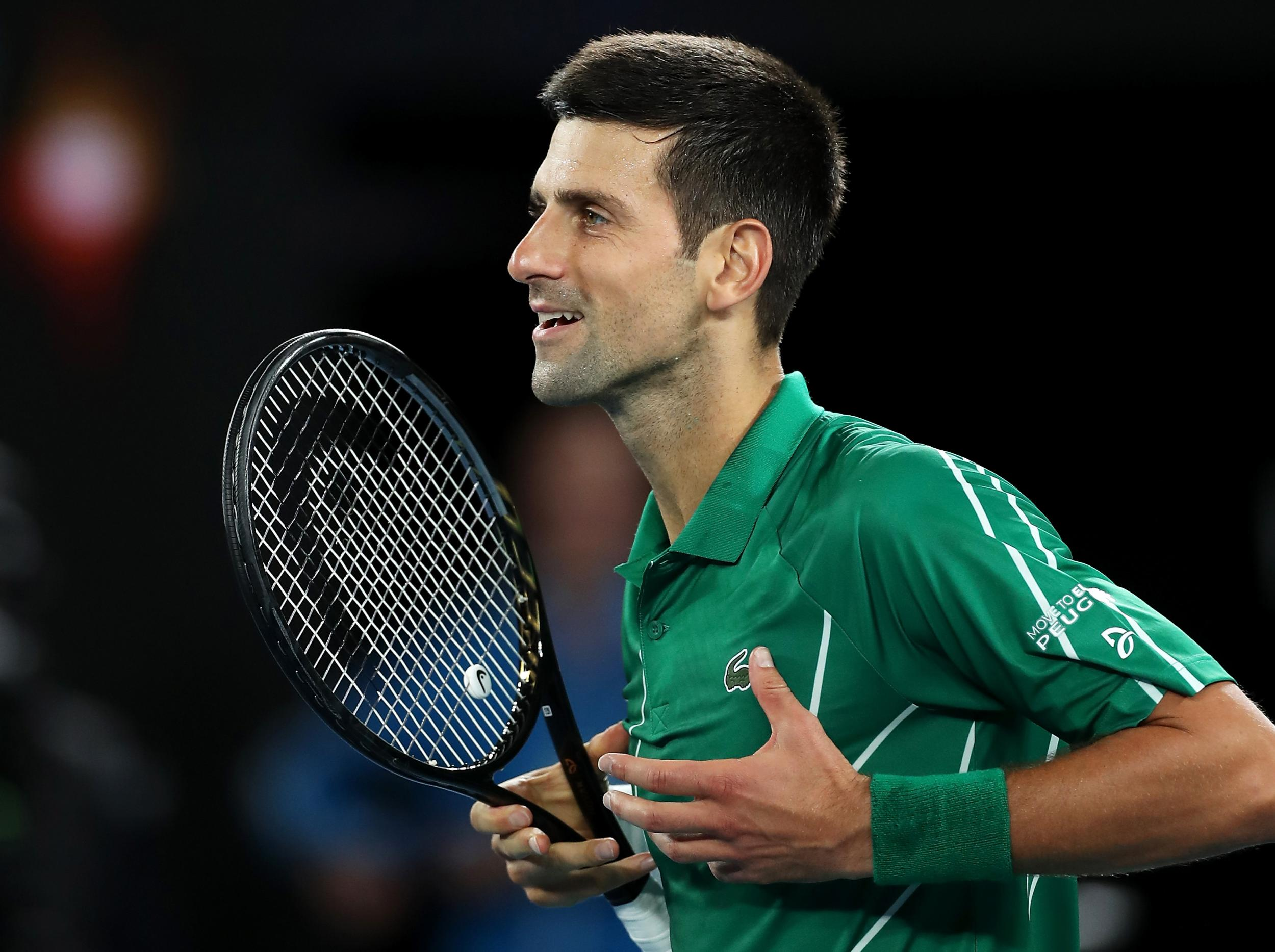 Australian Open 2020 Novak Djokovic makes stuttering start but 2500x1867