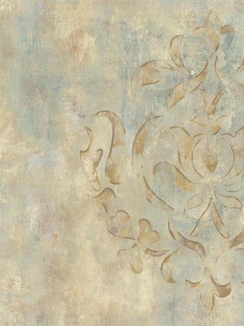 Faux Marble Damask 480x640