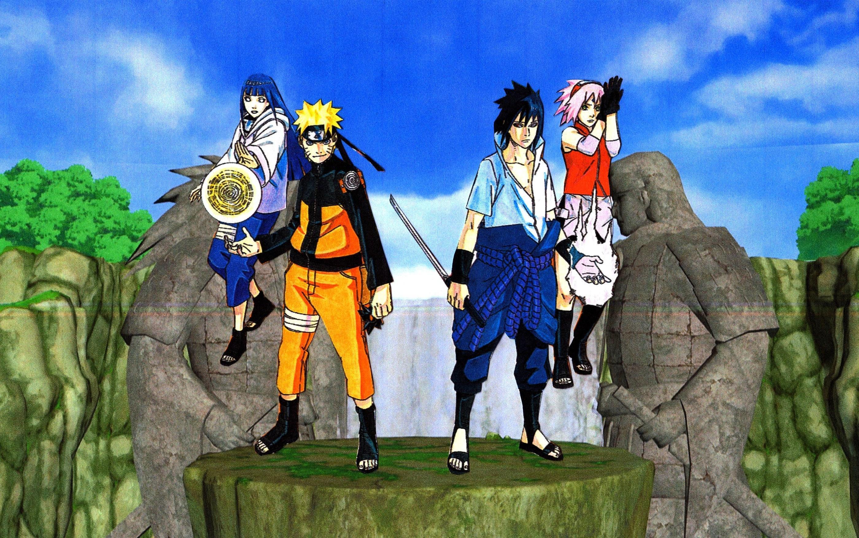 Naruto Hinata Sasuke Sakura Wallpaper 2 by weissdrum 2799x1754