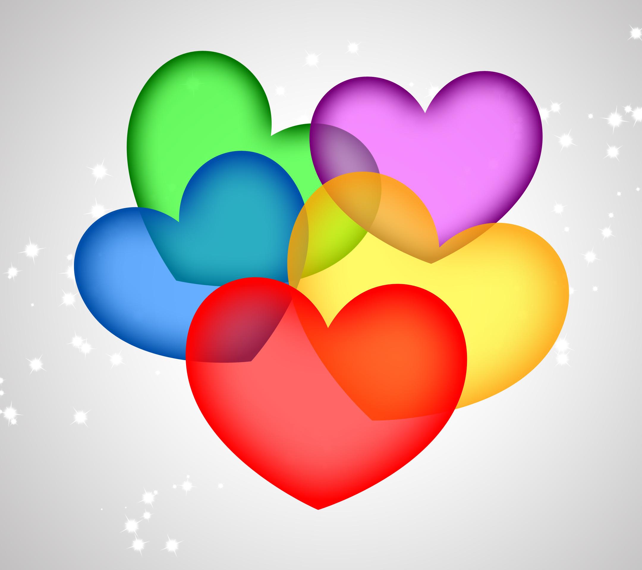 Colorful Hearts Wallpaper - WallpaperSafari