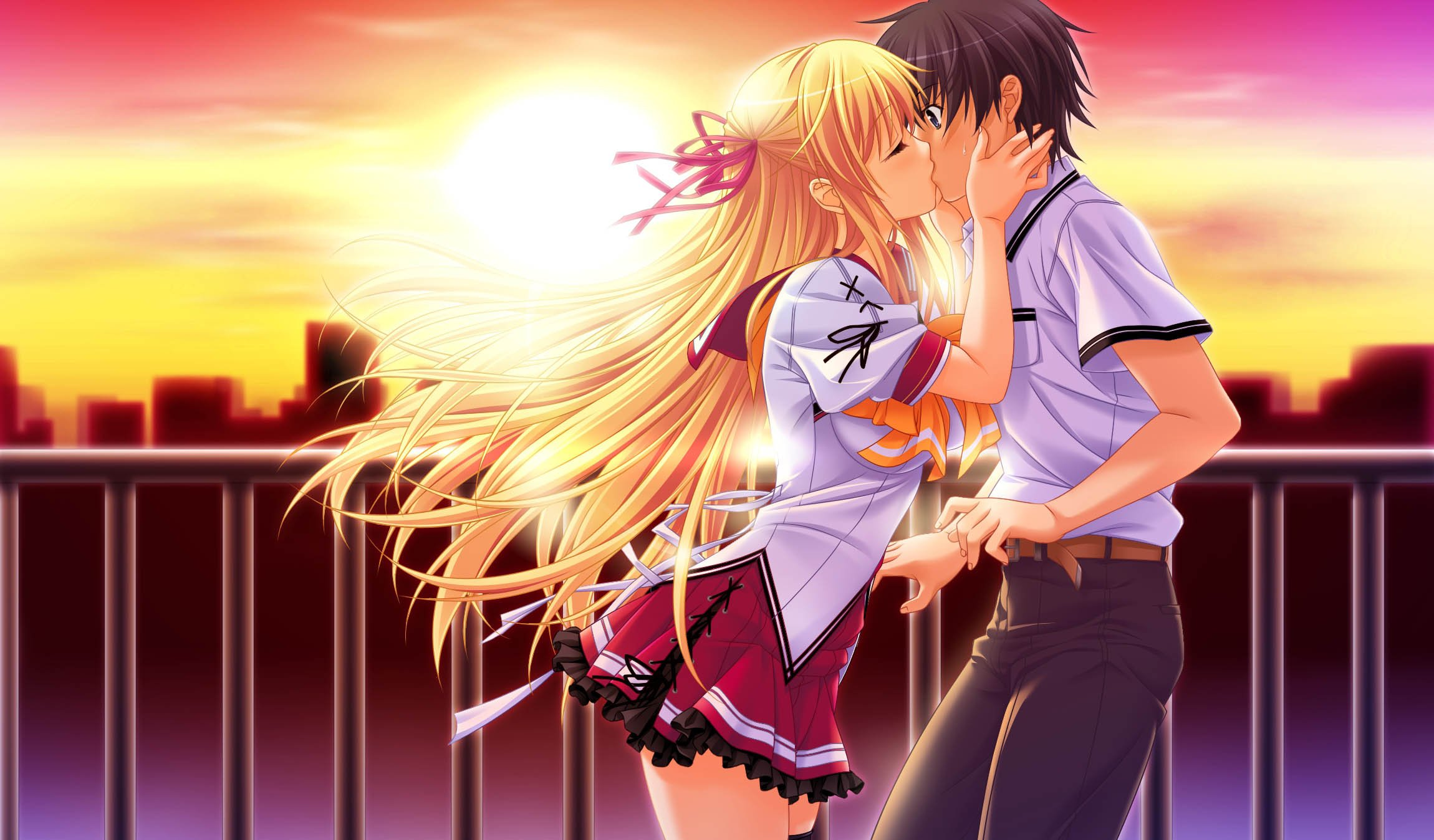 Anime kissing wallpaper wallpapersafari - Anime girl full hd ...