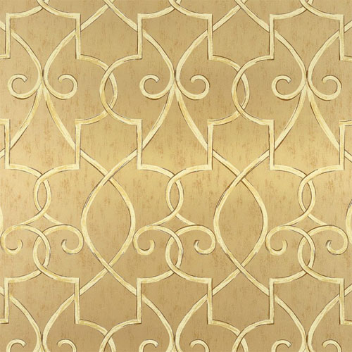 Hampton Lattice Wallpaper in Metallic Gold   All Wallpaper   Wallpaper 500x500