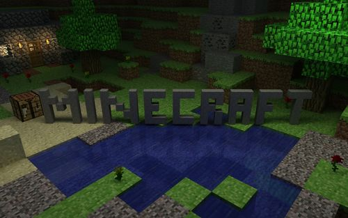 home games minecraft minecraft logo 500x313