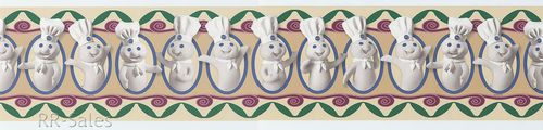 Pillsbury Doughboy kitchen Chef Hat Cook Dough Boy Wall Border Wallpa 500x120