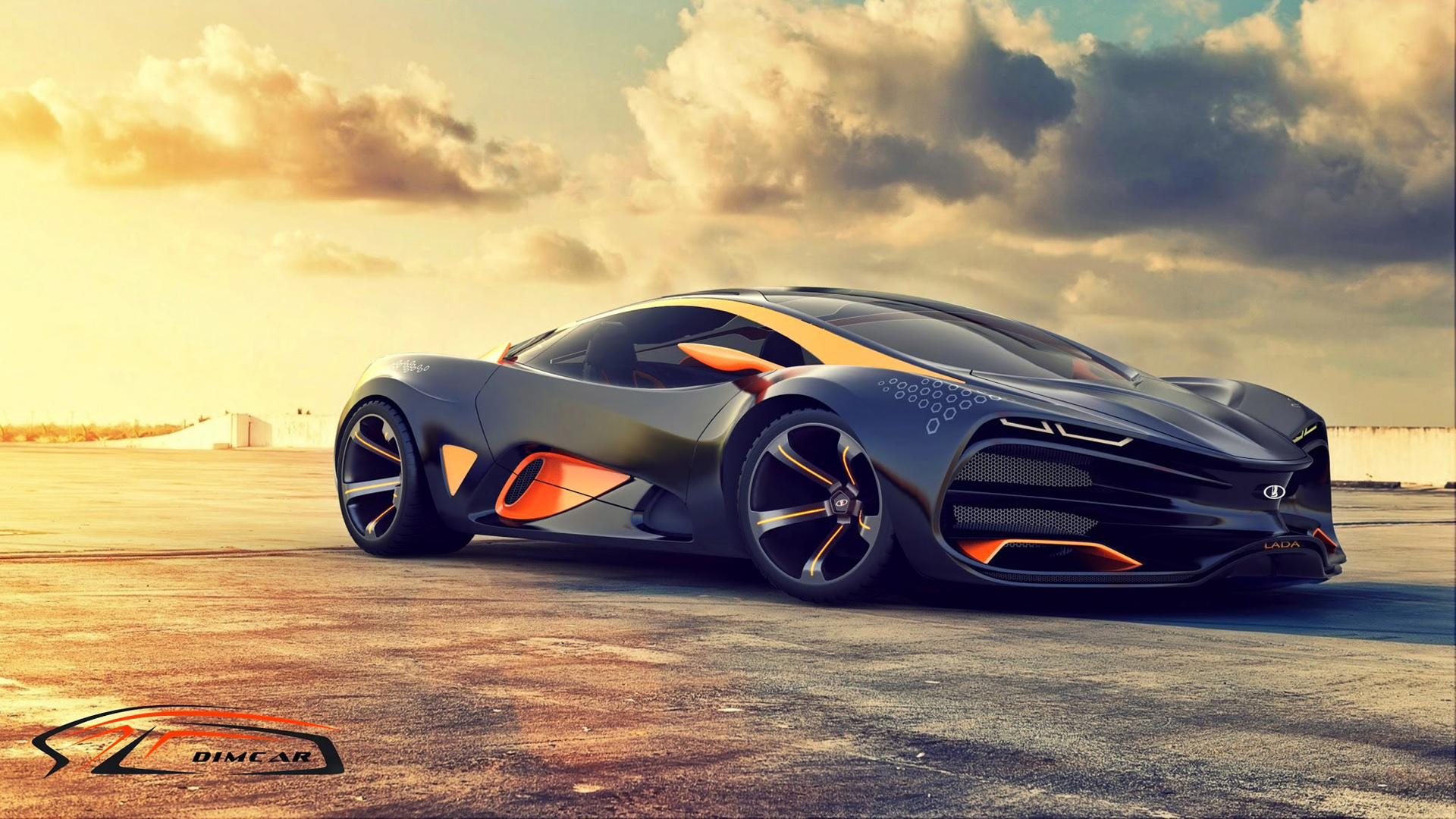 2015 Lada Raven Supercar Concept 2 Wallpaper HD Car 1920x1080