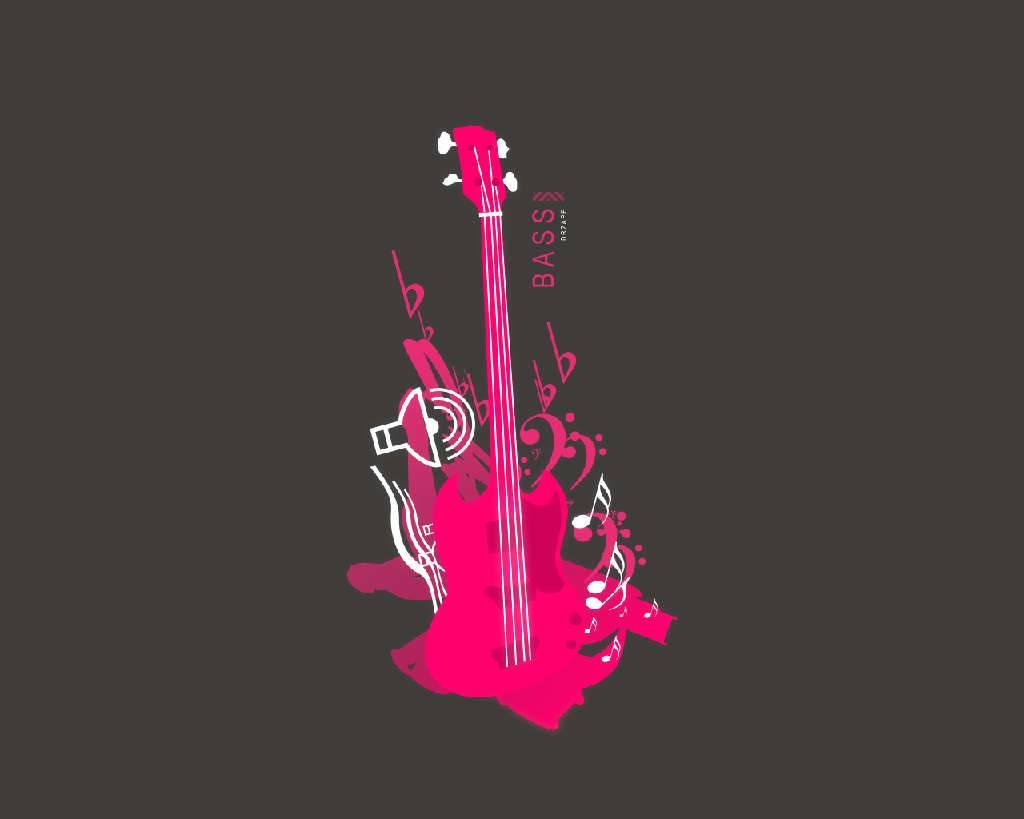 Pink Electric Guitar Wallpaper Pink bass guitar   guitar 1024x819