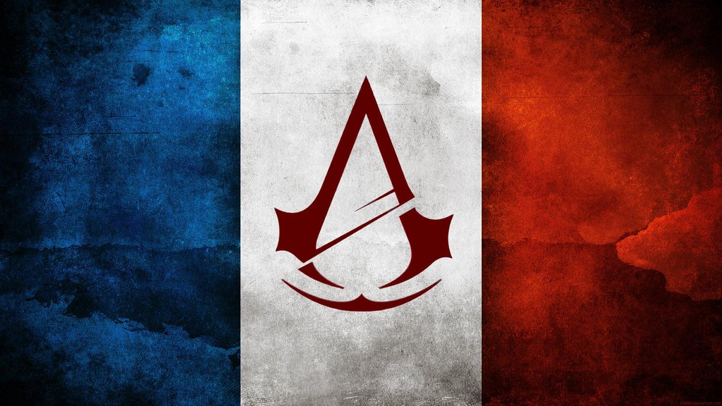 Assassins Creed Unity Flag Logo Wallpaper by MatrixUnlimited on 1024x576