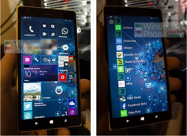 Se filtran imagnes del posible men Inicio para Windows Mobile 10 620x450