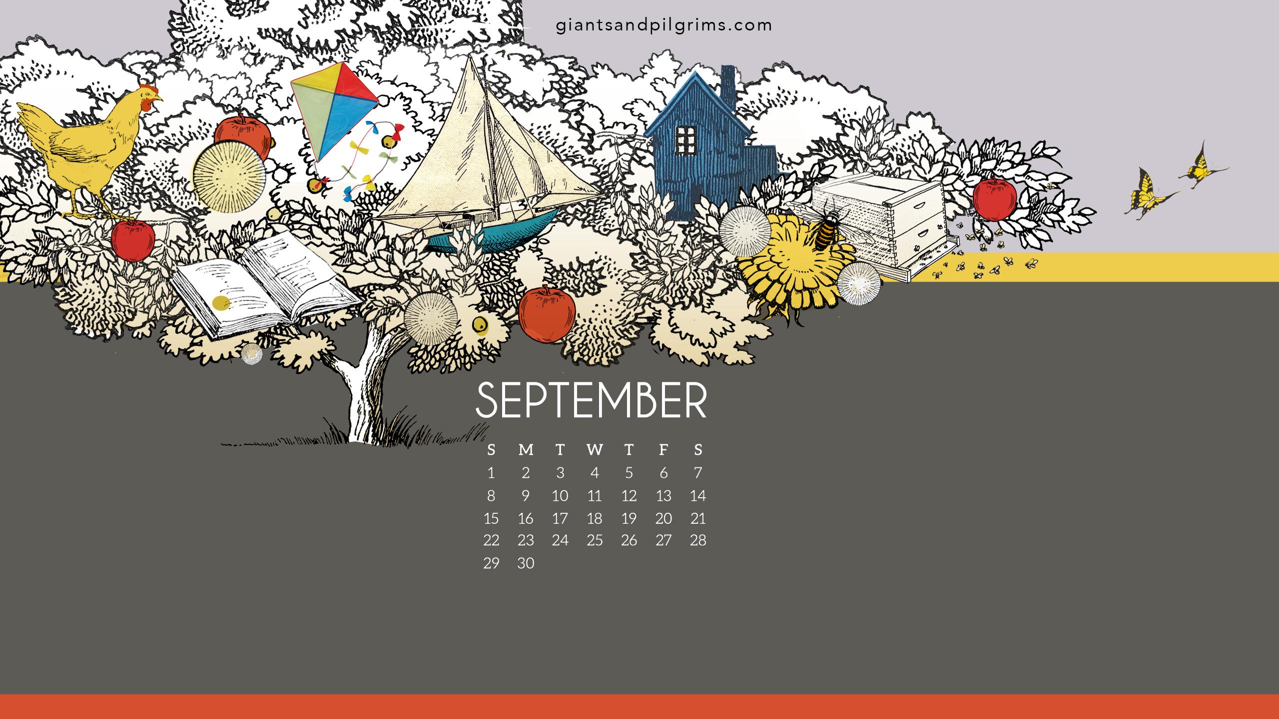September 2019 Desktop Wallpaper Giants Pilgrims 2560x1440