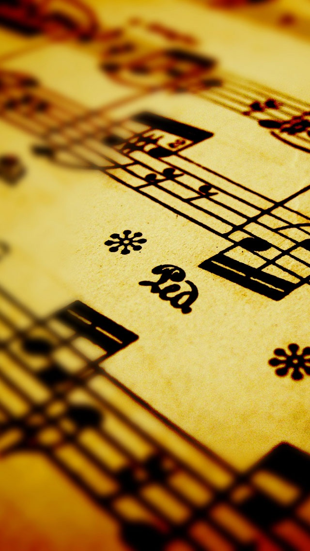 Yellow music symbols background iPhone 5 wallpapers Background and 640x1136