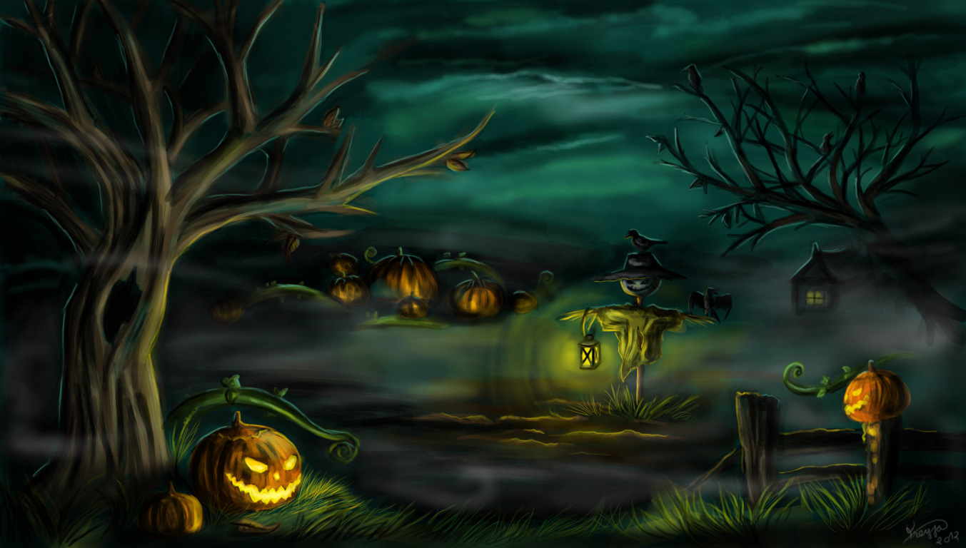 Halloween 2013 Backgrounds Wallpapers 1353x768