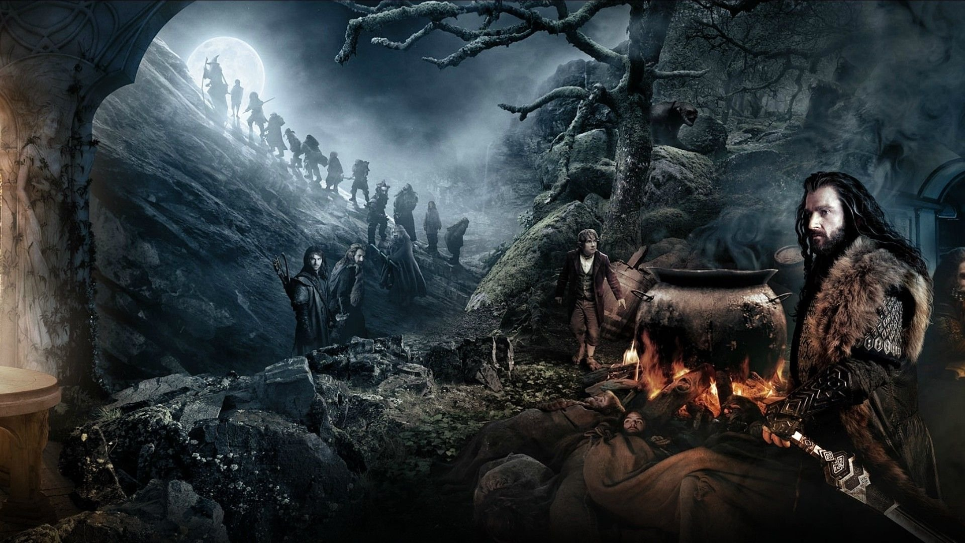 HOBBIT UNEXPECTED JOURNEY lotr adventure fantasy lord rings wallpaper 1920x1080
