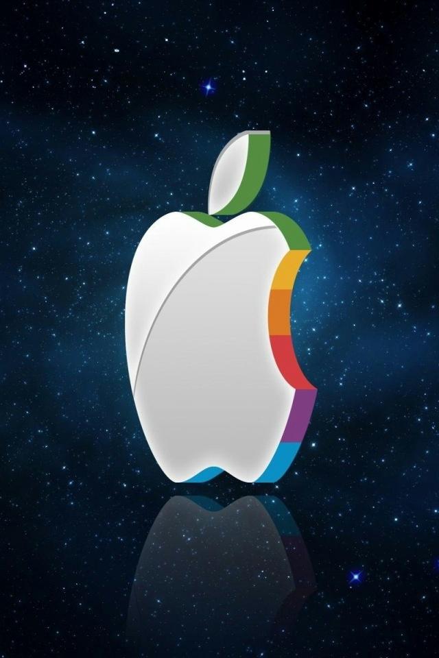 3D Mac Logo iPhone 4 Wallpaper and iPhone 4S Wallpaper 640x960