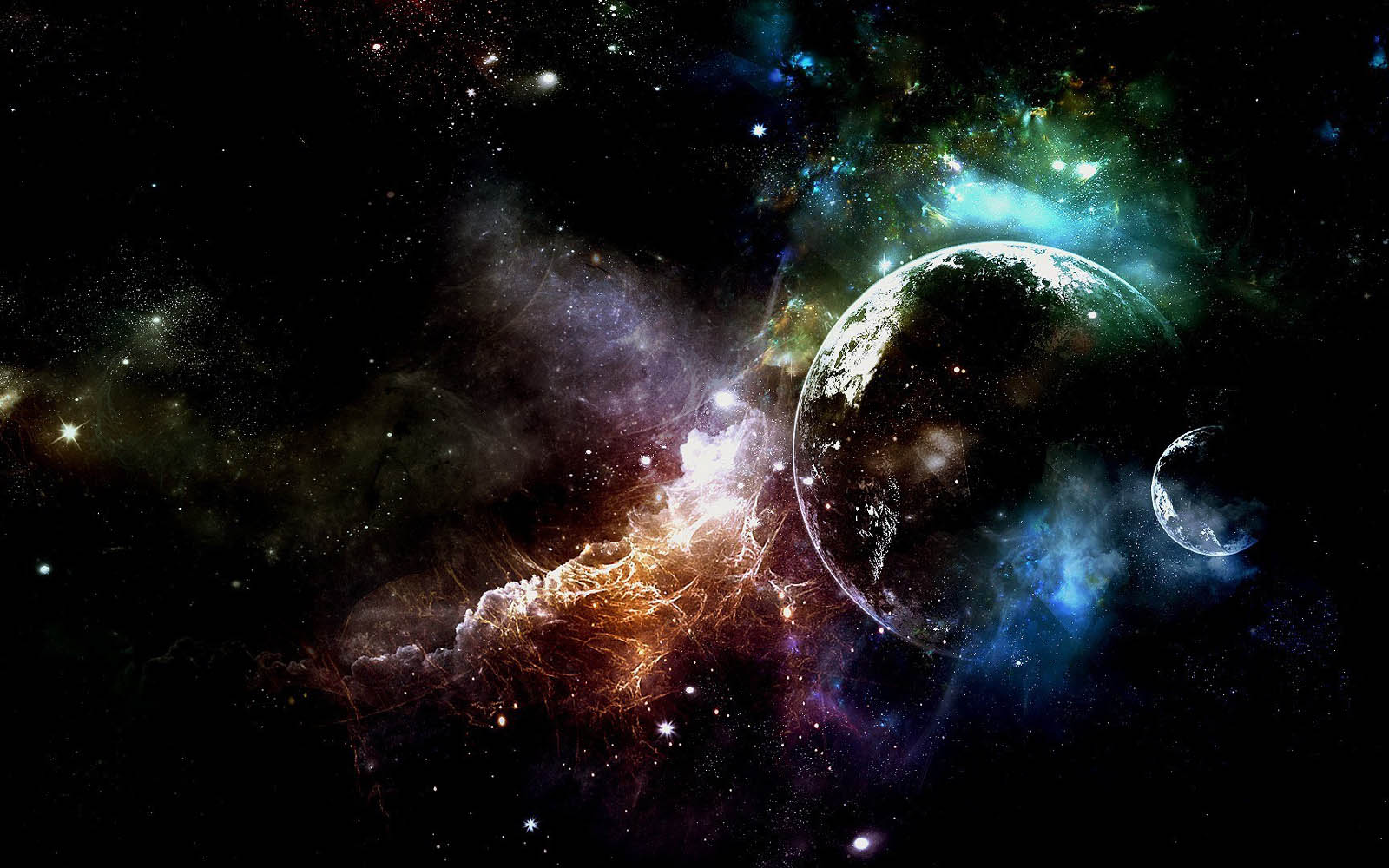 Space Wallpapers PlanetsIn Space Desktop Wallpapers Planets In Space 1600x1000