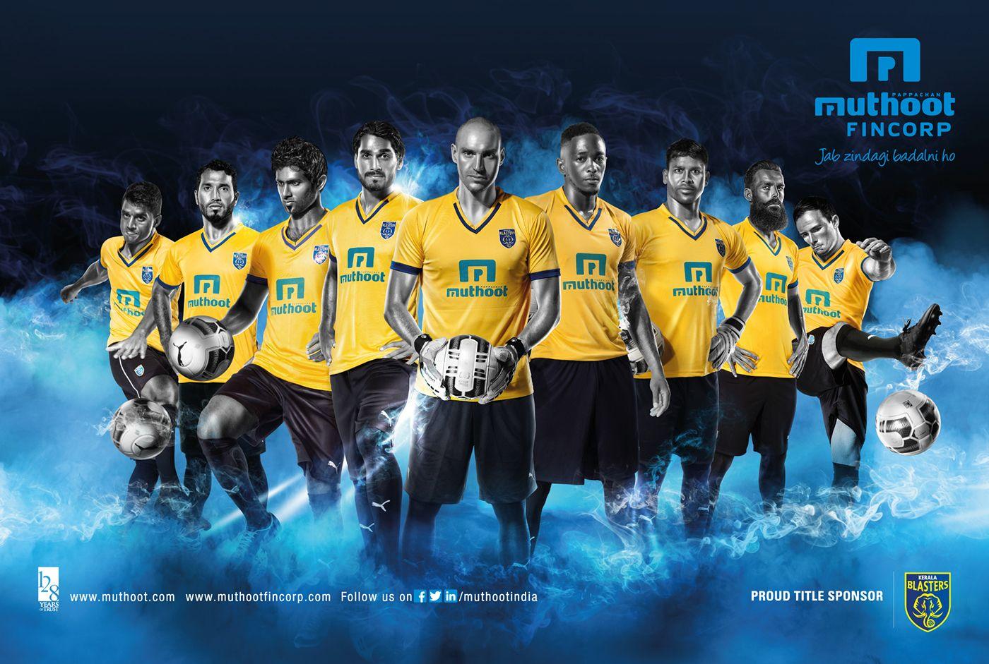 Muthoot kerala Blasters Indian Super League On Behance   Muthoot 1400x941