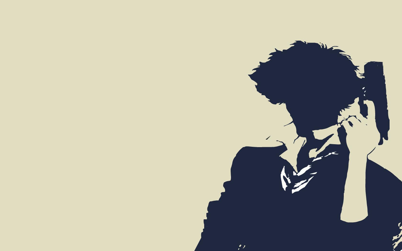 cowboy bebop spike spiegel simple background HD Wallpaper of Anime 1680x1050