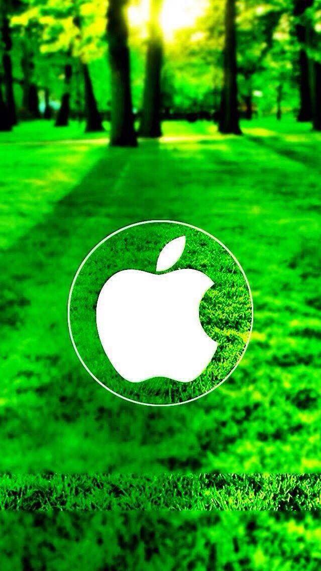 Apple Logo on Grass 640x1136