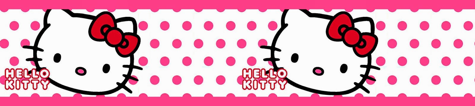 Wallpaper Border Hello Kitty 1600x359