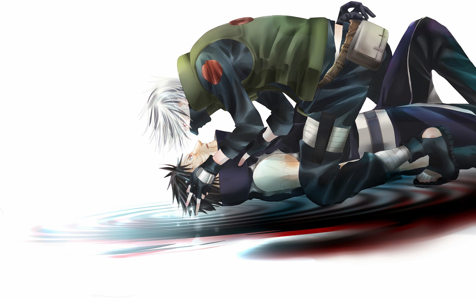 Kakashi and Obito Uchiha HD Wallpaper 1920x1200 a57 1920x1200