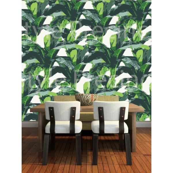 Tropical Banana Leaves   Wallpaper Brokers Melbourne Australia 600x600