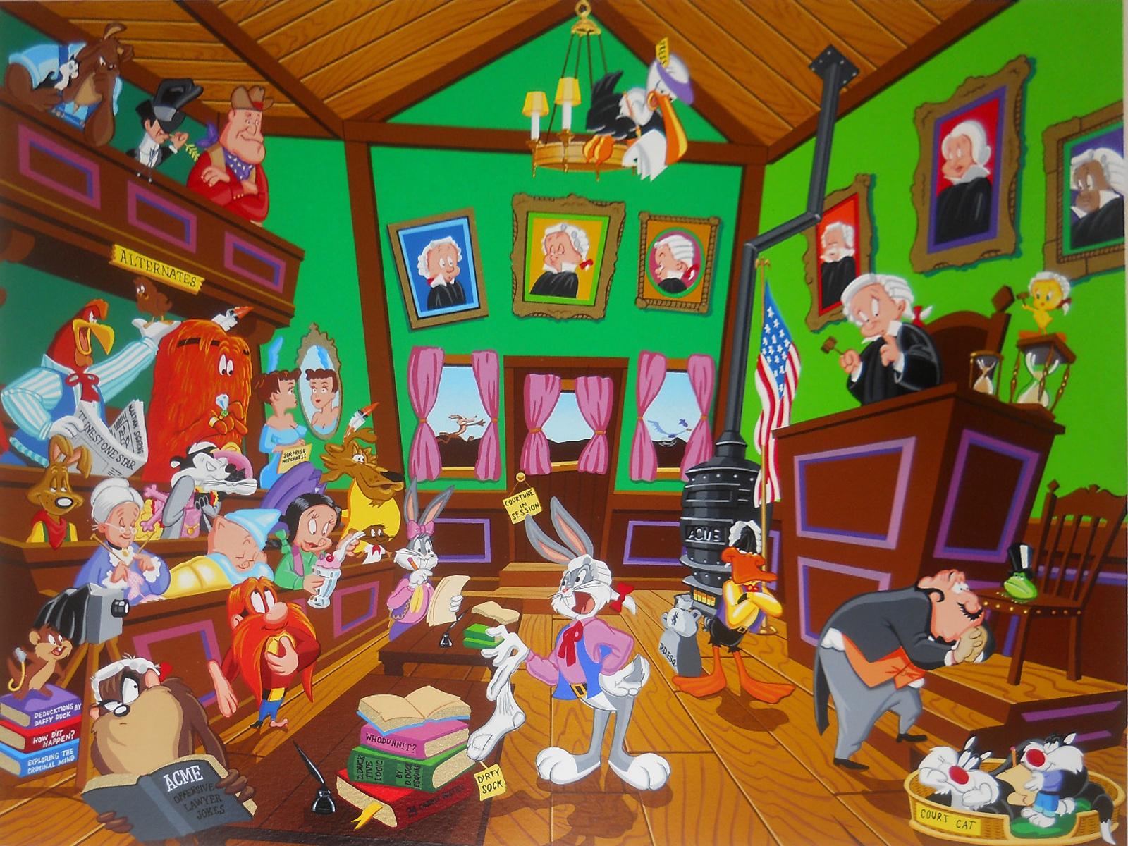 Looney tunes christmas wallpaper wallpapersafari - Looney tunes background ...