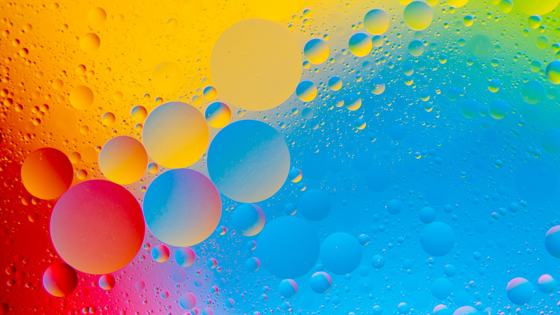 Colourful Bubbles 4K HD Abstract Wallpaper iPhone 7 Plus iPhone 1920x1080