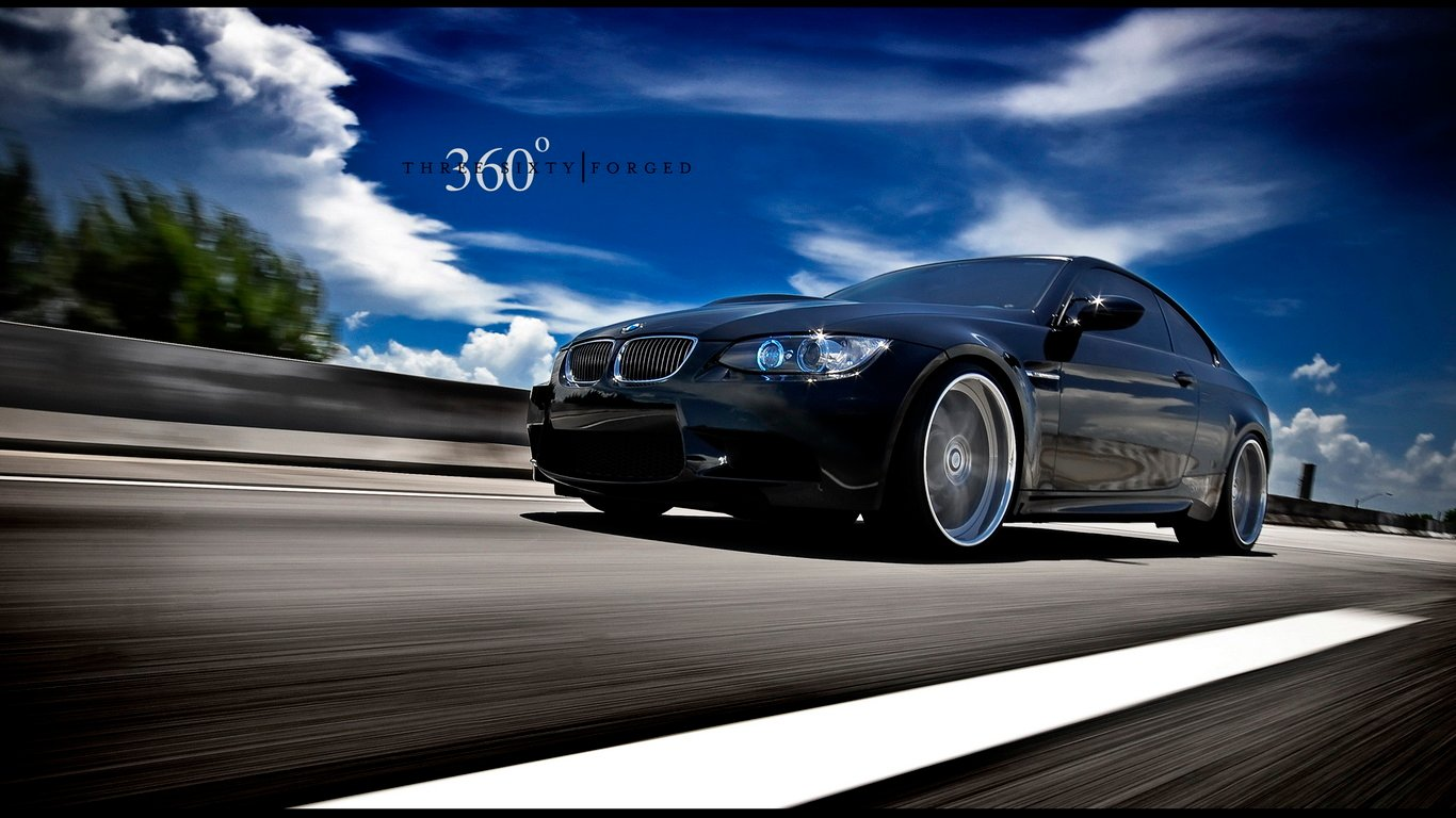 moving BMW Cars widescreen on the desktop pictures 3d wallpapers 1366x768