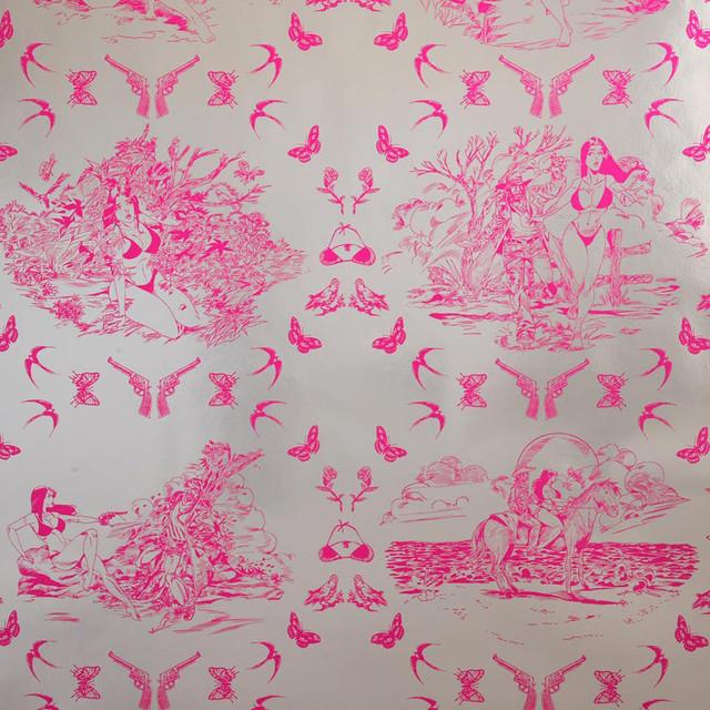 Flavor Paper   Sassy Toile Wallpaper modern wallpaper 640x640