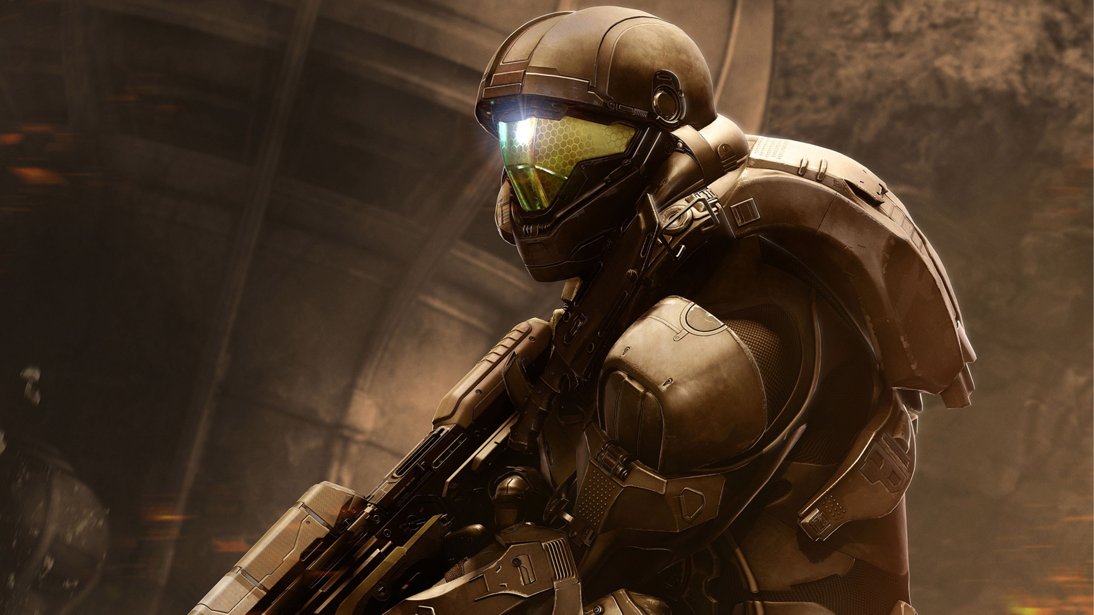 HD Background Halo 5 Guardians Game Buck Shooter Robot Wallpaper 3840x2160
