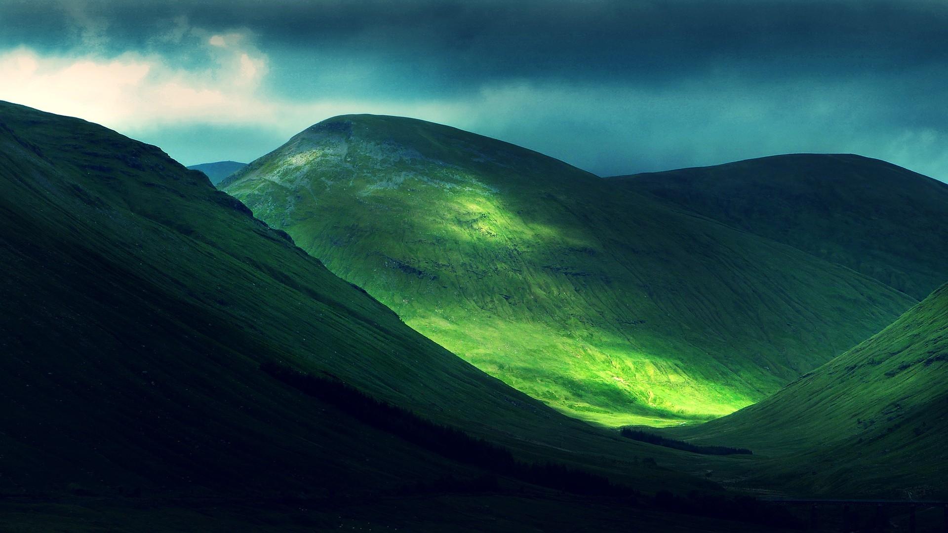 landscape of green hills HD Desktop Wallpaper HD Desktop Wallpaper 1920x1080
