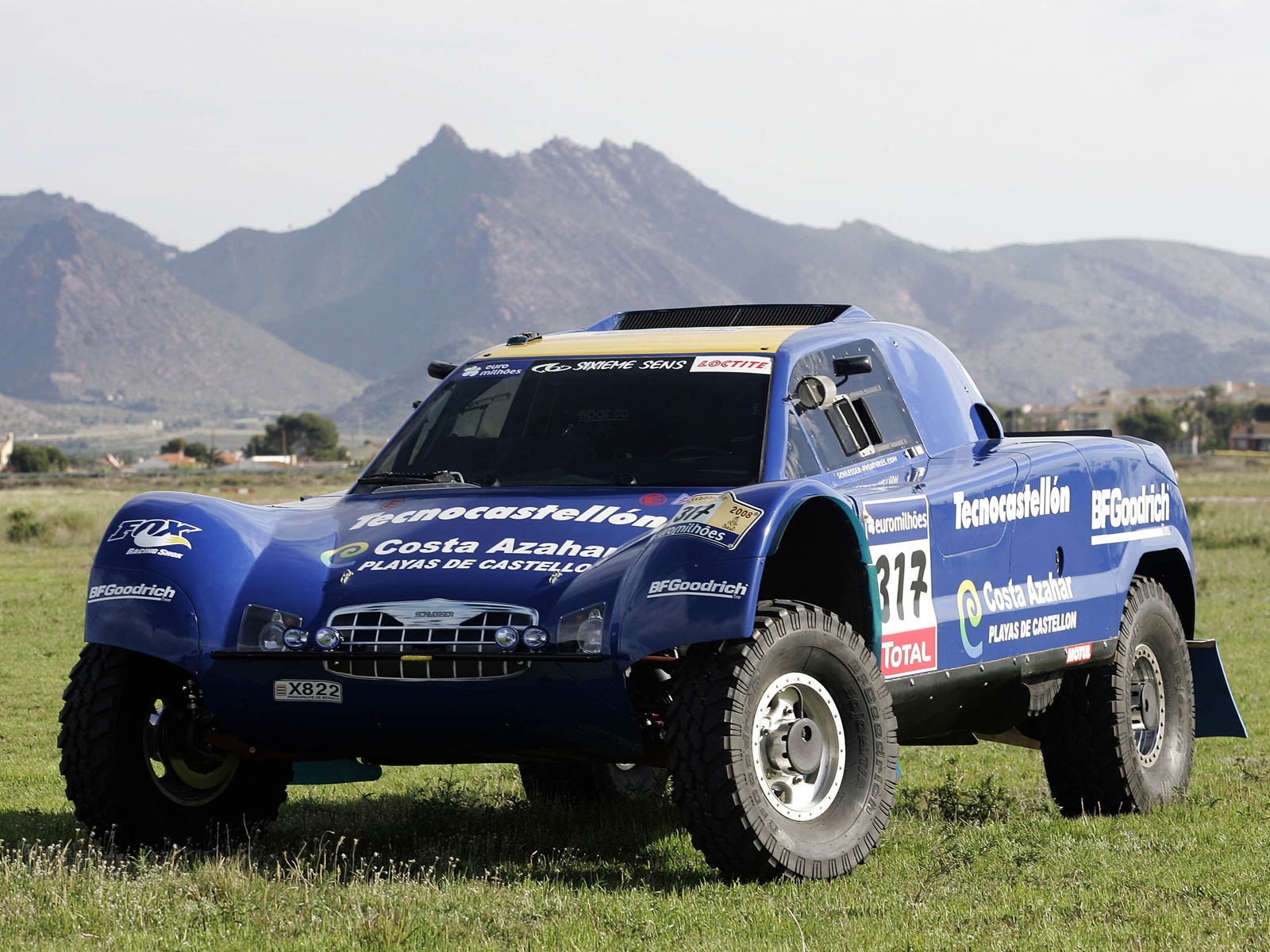 Ford Ranger X822 race truck racing offroad 4x4 wallpaper background 1600x1200
