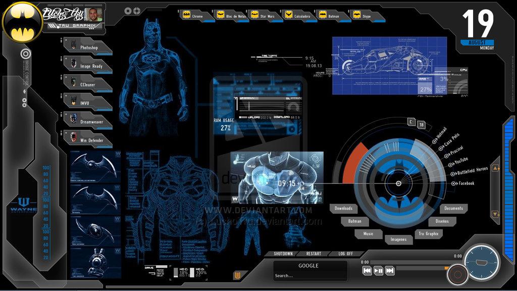 Batman Computer Computador de Batman by LuchoTru 1024x576
