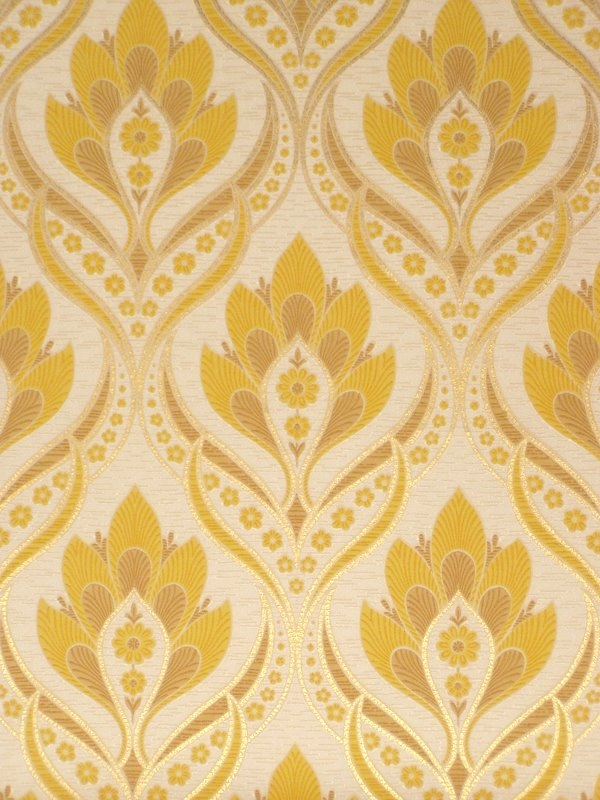 Retro baroque wallpaper with gold details   Vintage Wallpapers 600x800