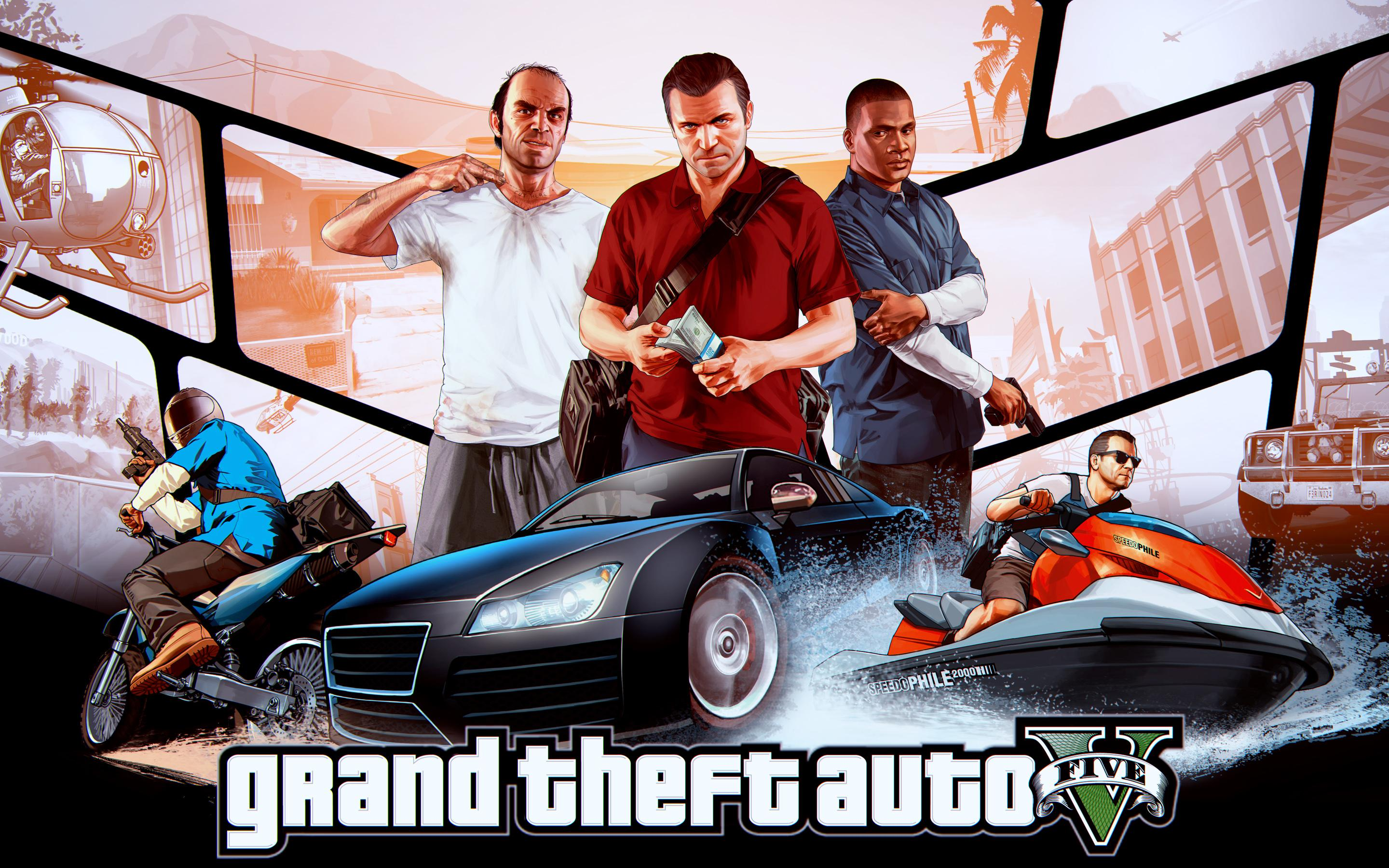 group of gta v online 2048x1152 gaming wallpaper youtube