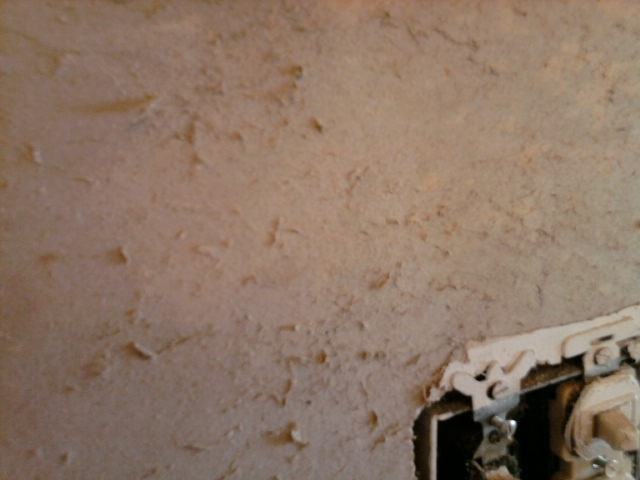 Fuzzy drywall after removing wallpaper 525x394