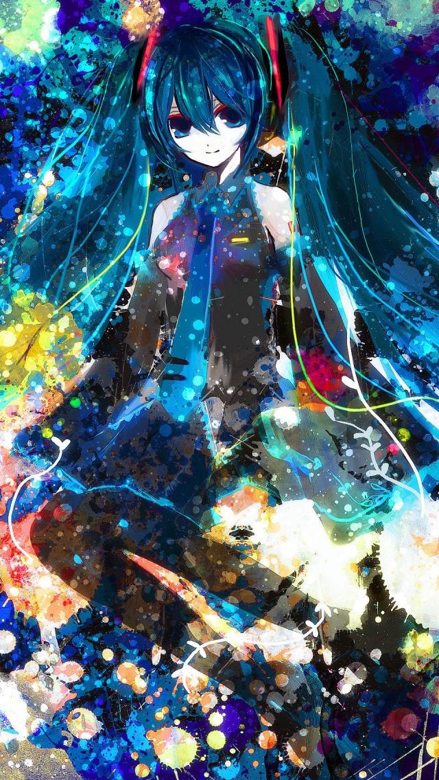 Hatsune Miku iPhone 5 640x1136