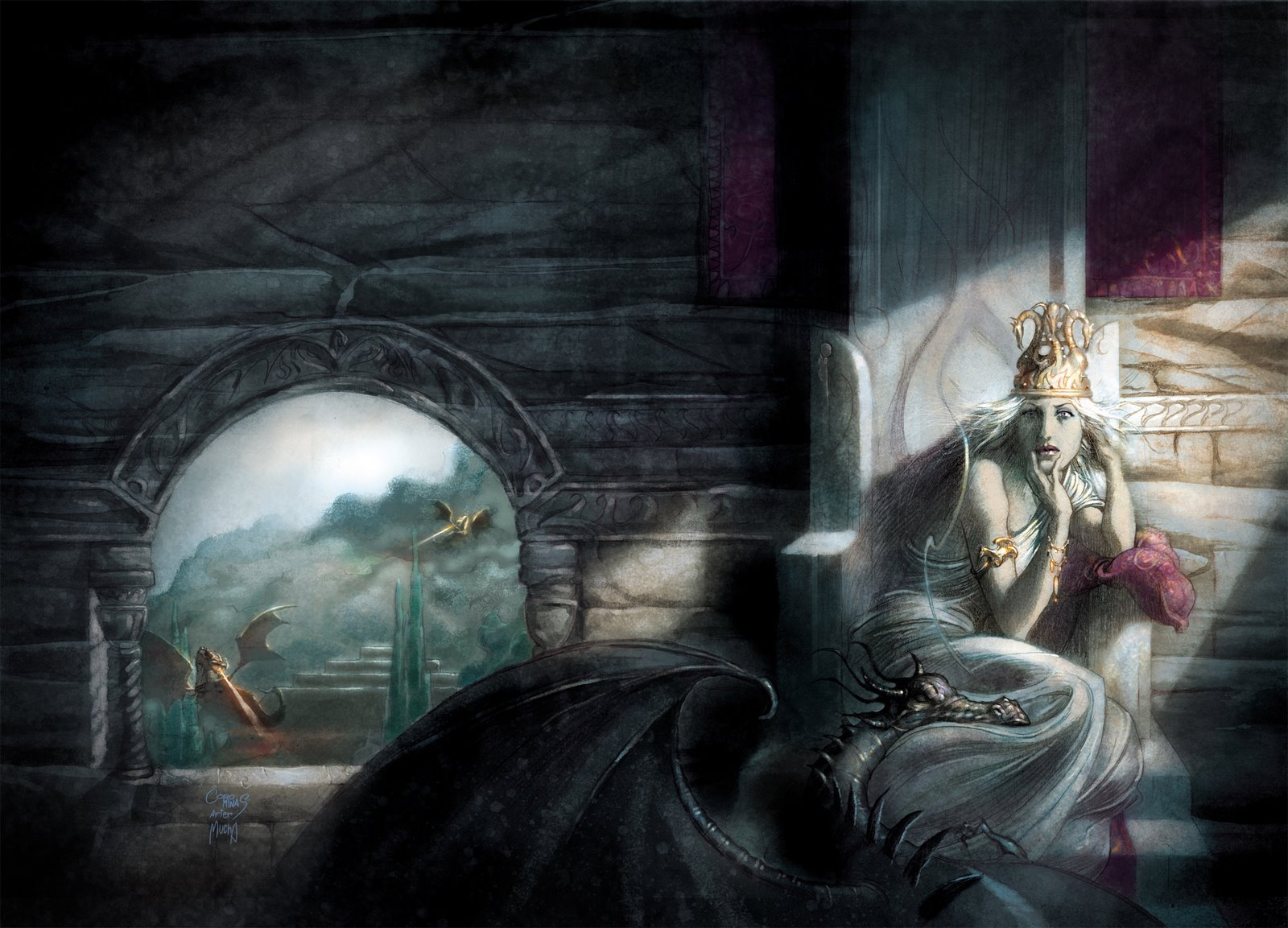 Fantasy   A Song Of Ice And Fire Daenerys Targaryen Dragon Wallpaper 1600x1153