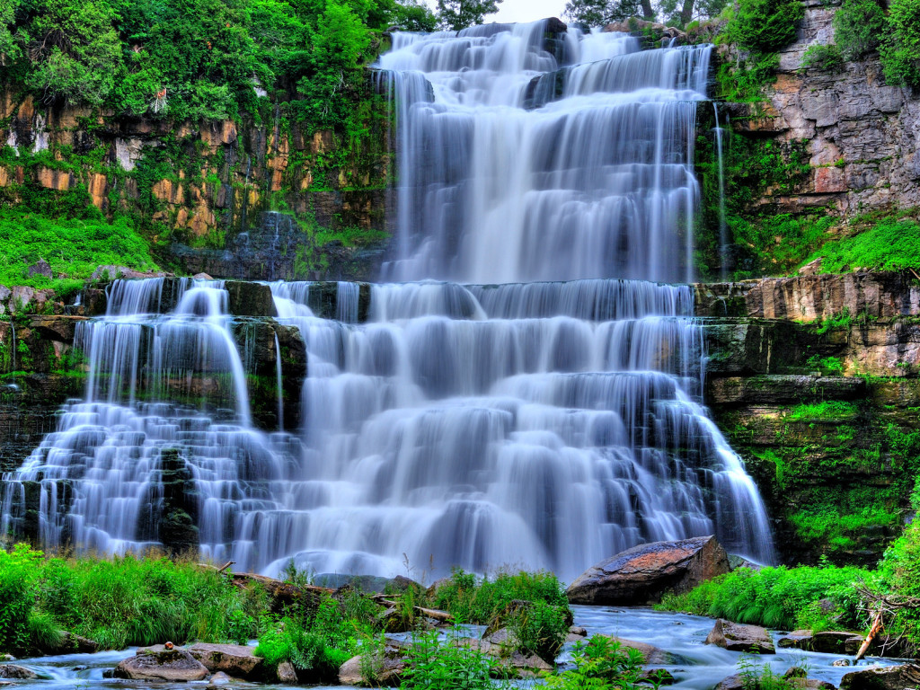 waterfall showing in two direction as waterfall model 1024x768