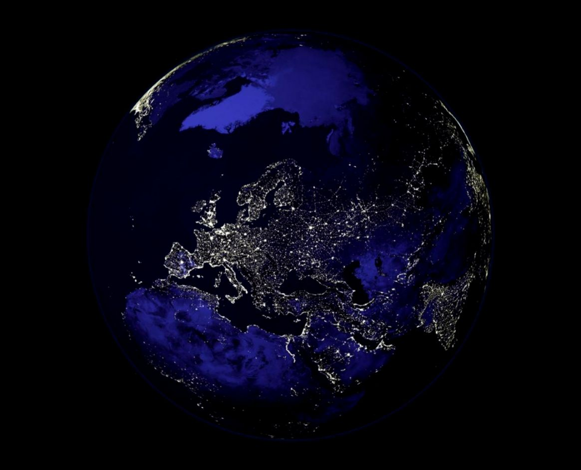 Earth At Night From Space Wallpaper Wallpapers Background 1164x942