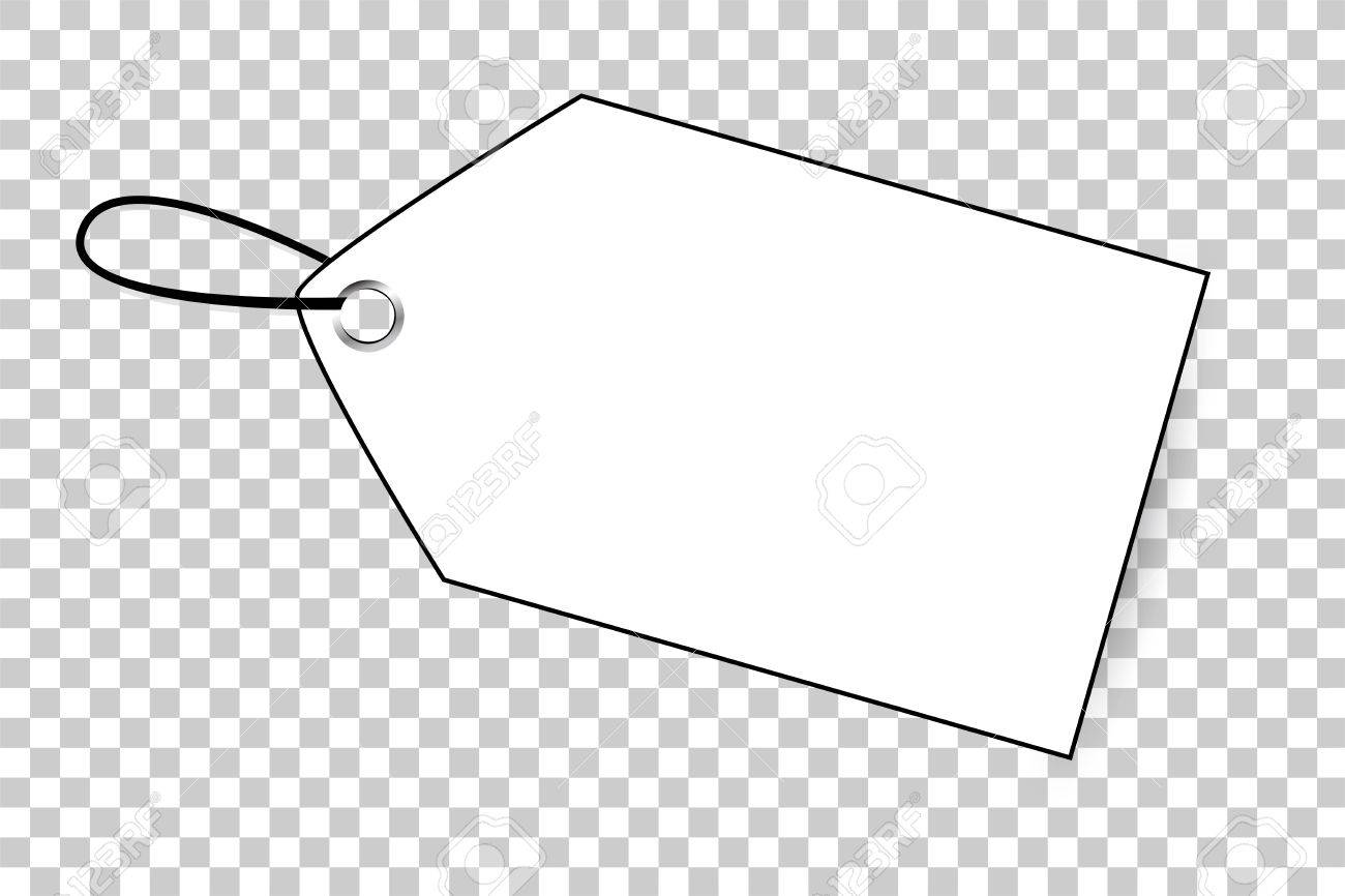 Outline Blank Tag At Transparent Effect Background Stock Photo 1300x866