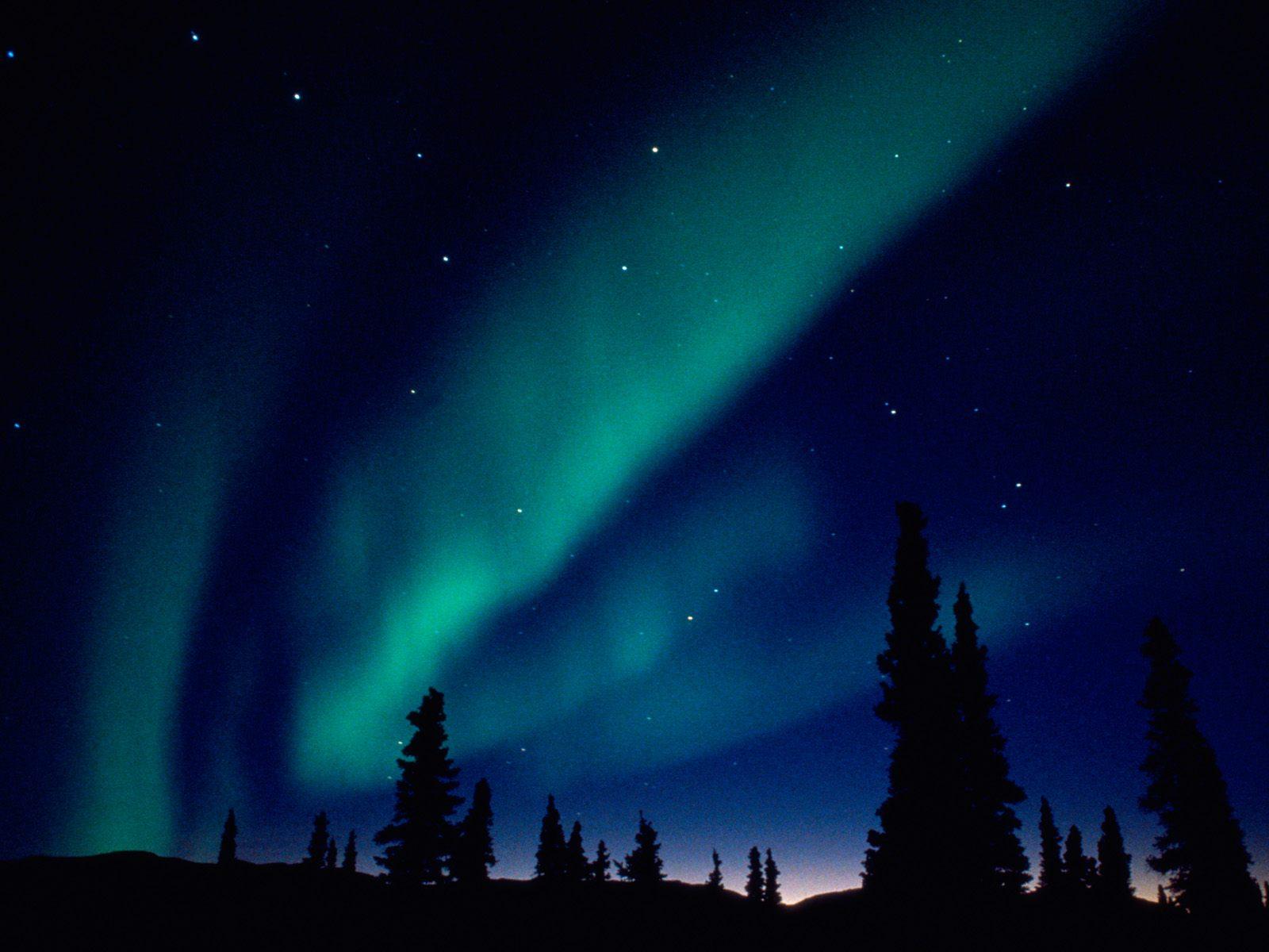 Blue Northern Lights HD wallpaper background 1600x1200