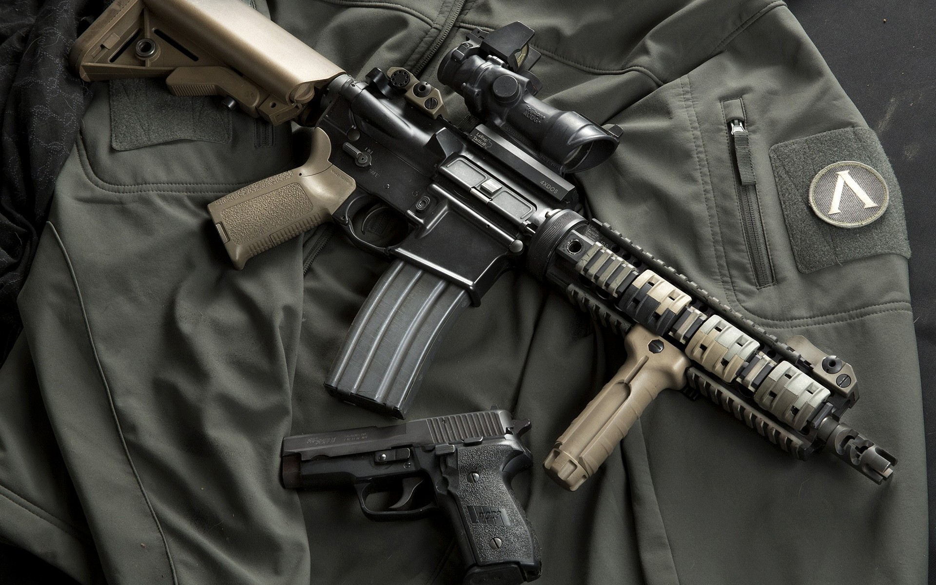 Ar 15 Assault Rifle Computer Wallpapers Desktop Backgrounds 1920x1200