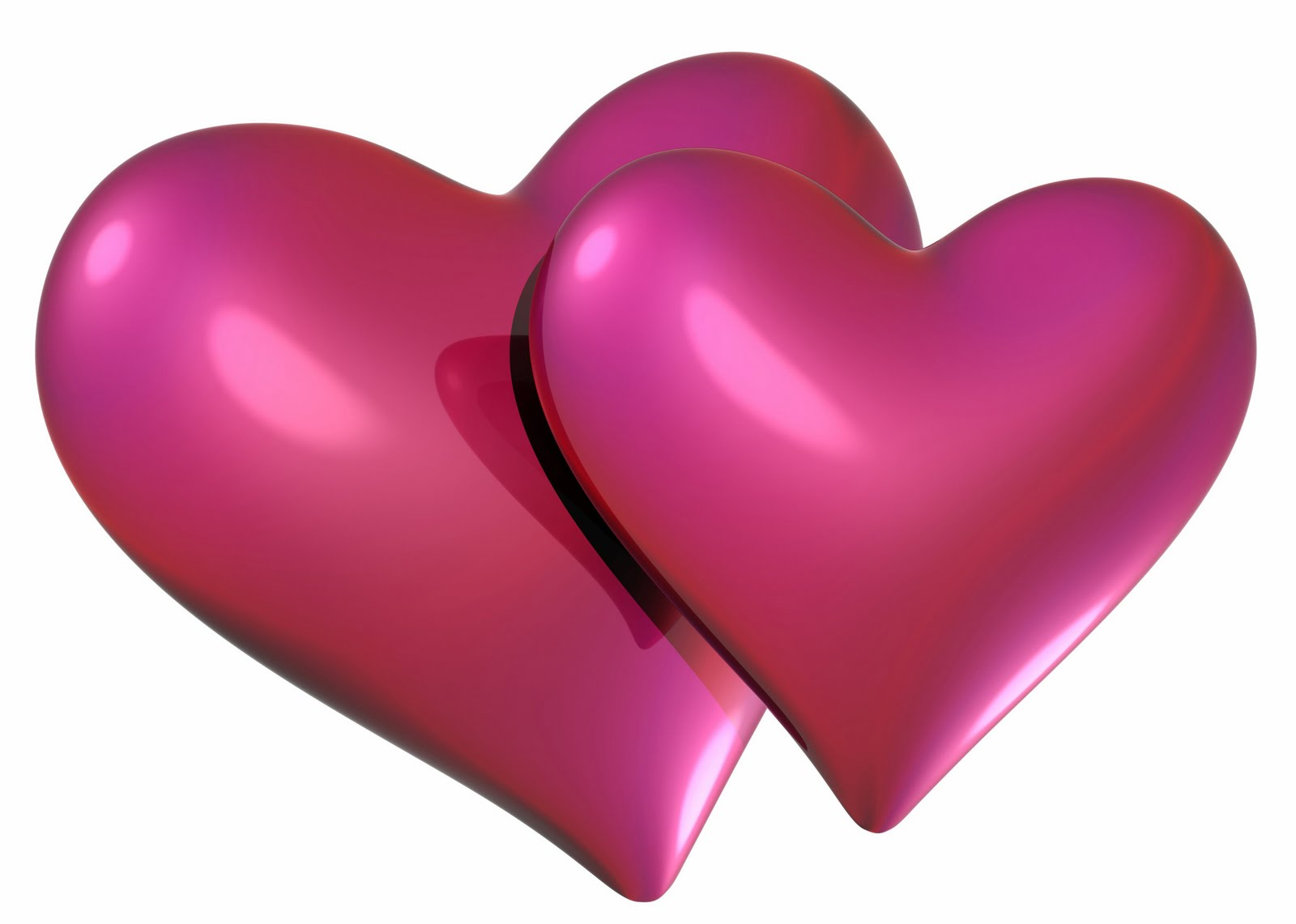 Download wallpapers two hearts, 3D art, love concept, black ... | 1141x1600