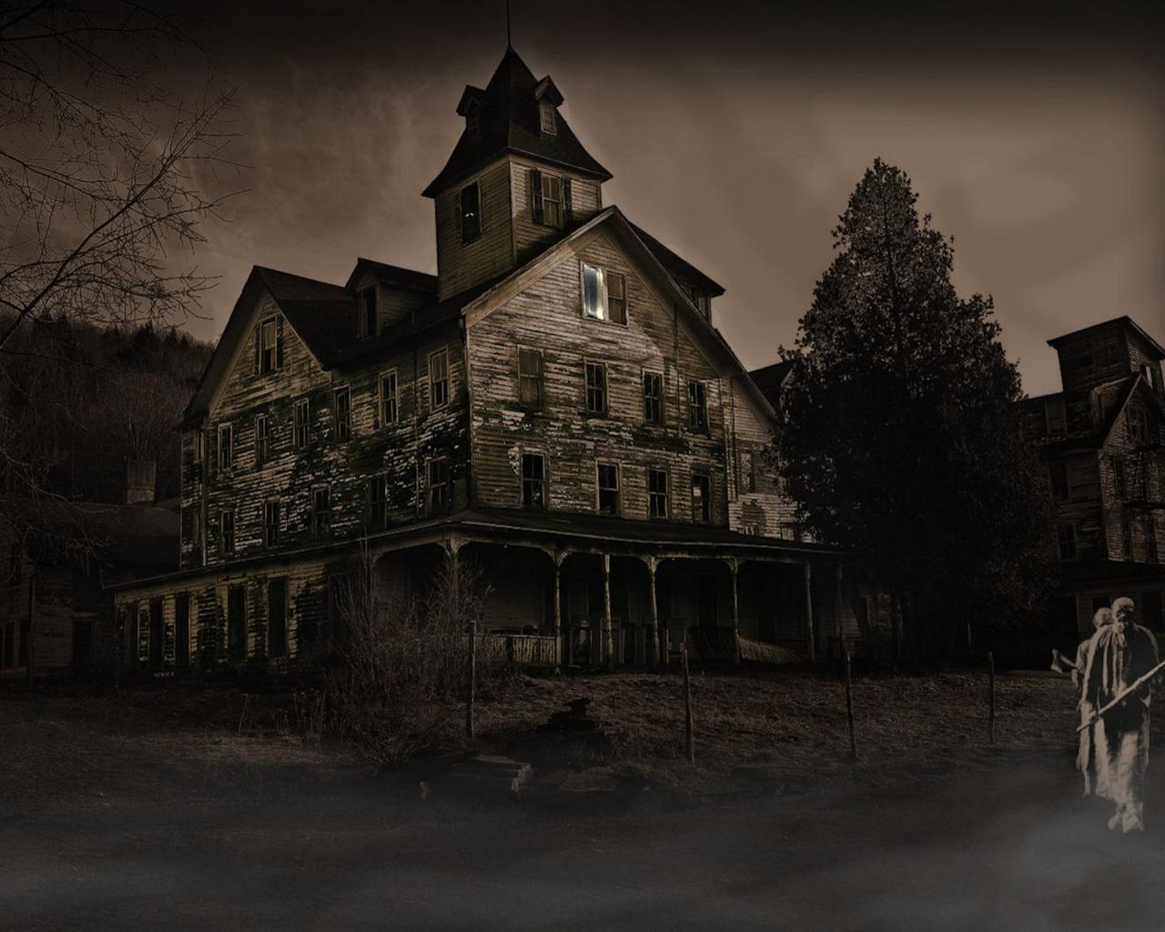 Haunted House Wallpaper   1280x1024 1280x1024