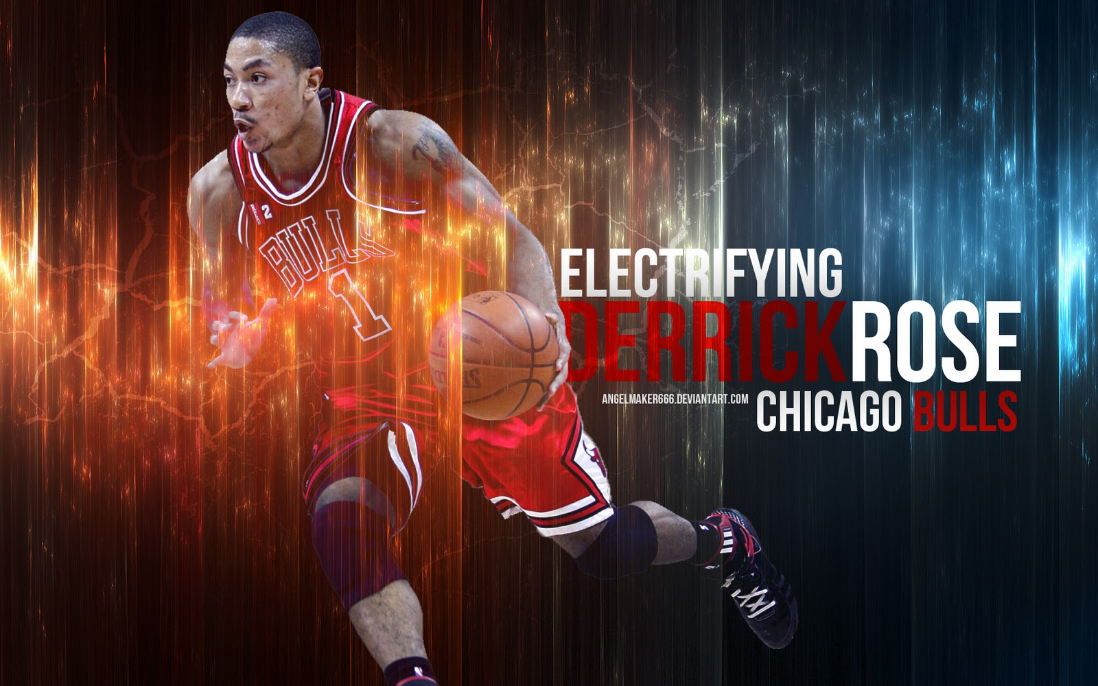 Derrick Rose basketball wallpapers NBA Wallpapers 1600x1000