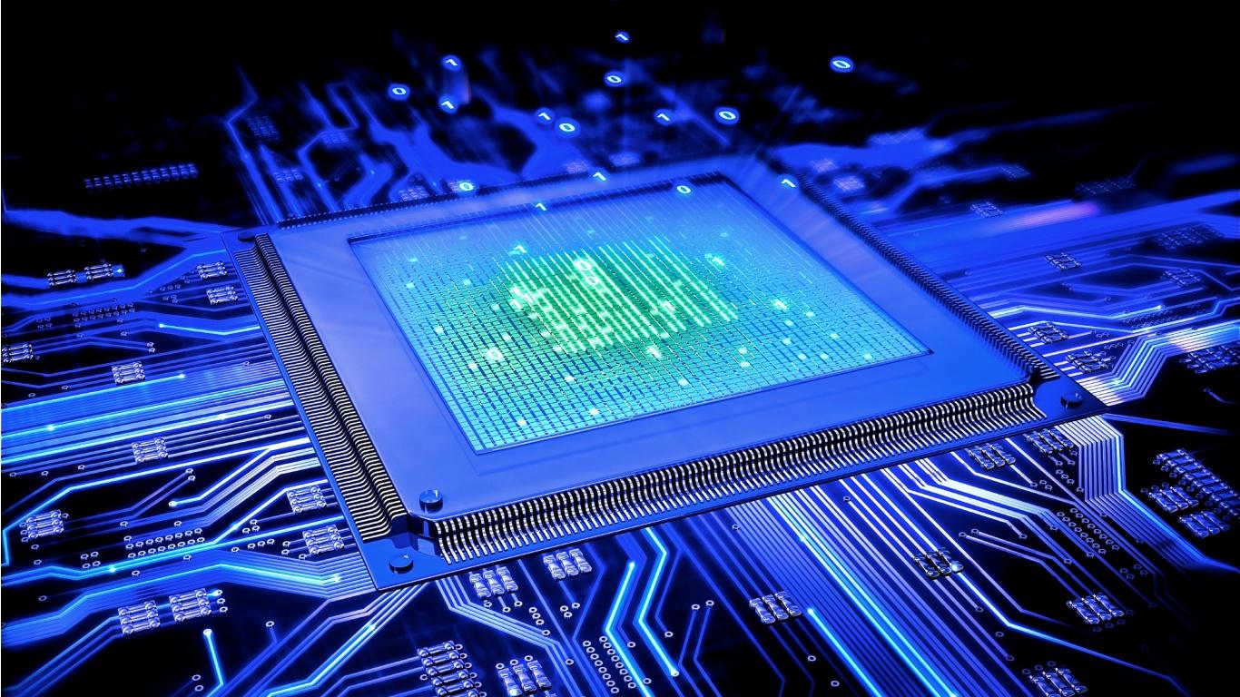 Blue Computer Cpu 1366 x 768 1366x768