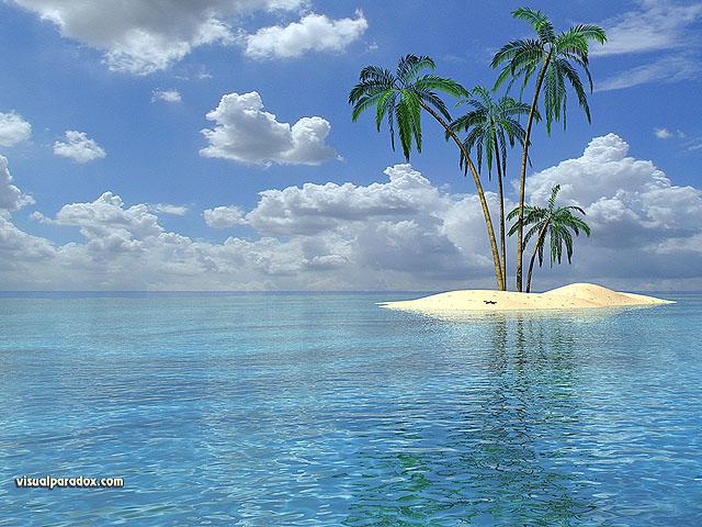 3D Wallpaper Isle 640x400 640x480