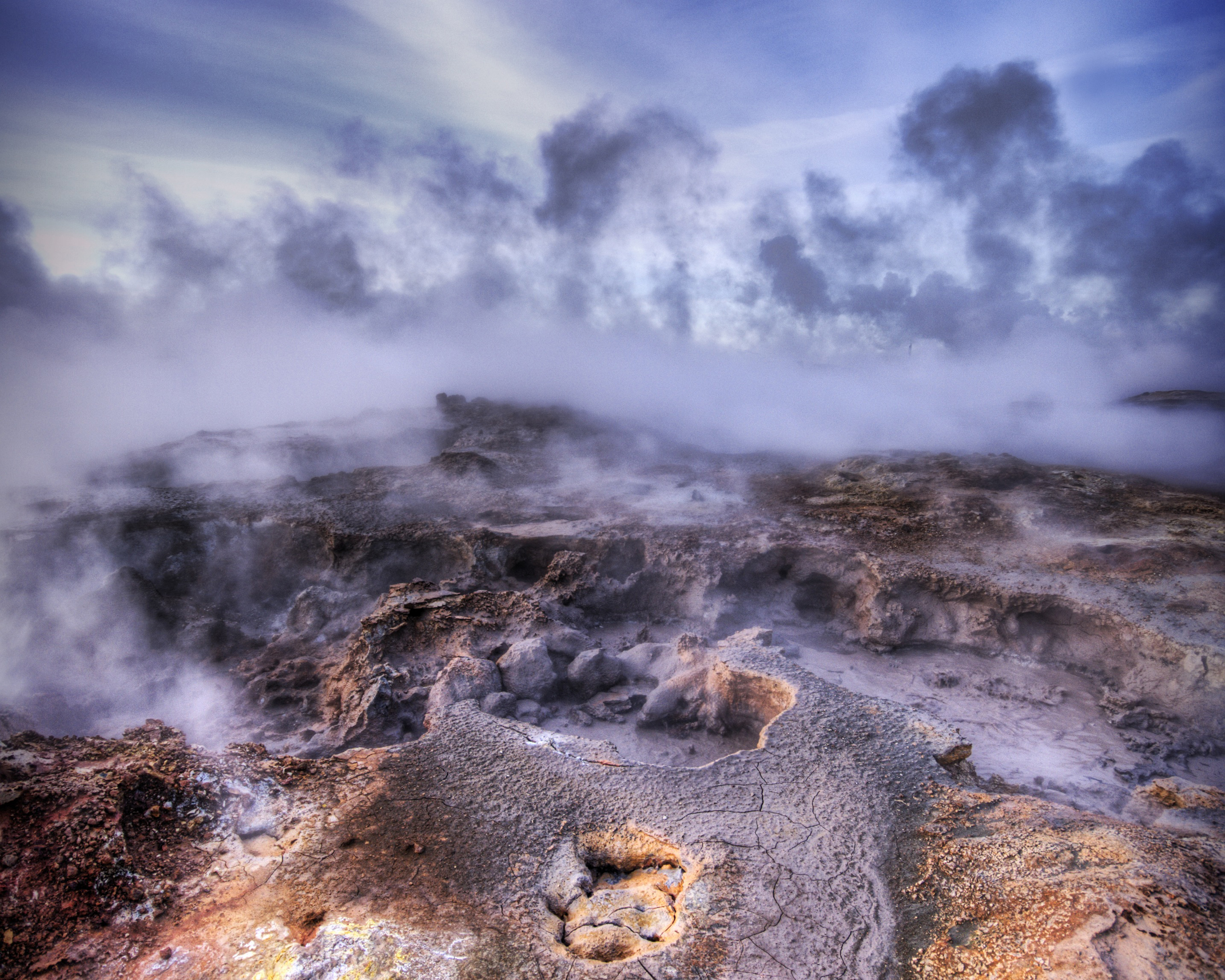 Not of this Earth The Bubbling Sulfur Pools of Iceland 2560x2048