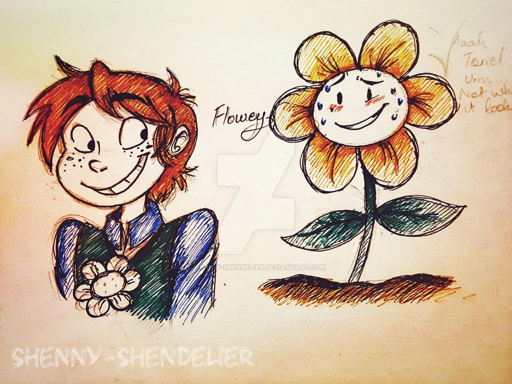 UNDERTALE Flowey by Shenny Shendelier 1024x768